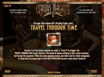 His Curious Machine — игровой автомат на деньги в онлайн-казино Играть на деньги Путешествия во времени на сегодняшний день неосуществимая мечта всего человечества.